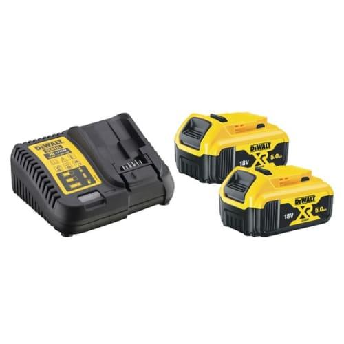 Pack 2 batteries XR 18V 5Ah Li-Ion + chargeur photo du produit Principale L