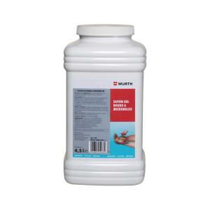 Savon gel rouge micro-billes photo du produit