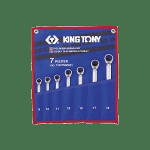 Trousse de 7 clés mixtes à cliquet métriques photo du produit
